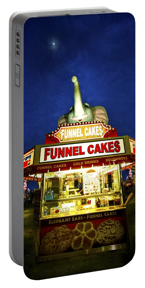 Carnival Portable Battery Charger featuring the photograph Funnel Cakes by Mark Andrew Thomas
