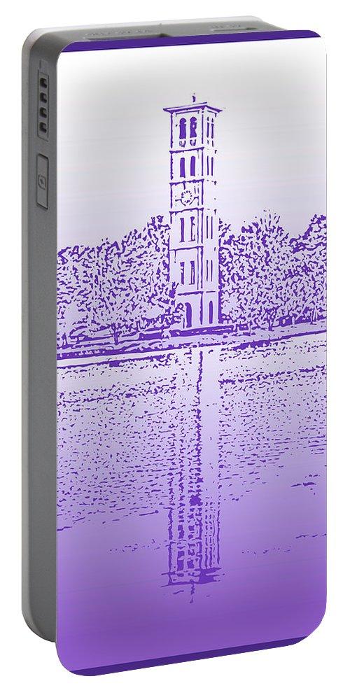 Furman University Portable Battery Charger featuring the digital art Furman Bell Tower by Greg Joens