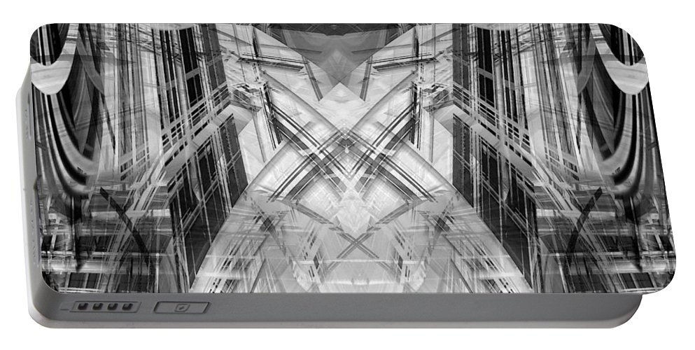 Abstract Portable Battery Charger featuring the digital art Future by Steve Ball