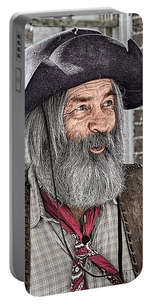 Gabby Hayes Portable Battery Charger featuring the photograph Gabby Look Alike by Priscilla Burgers