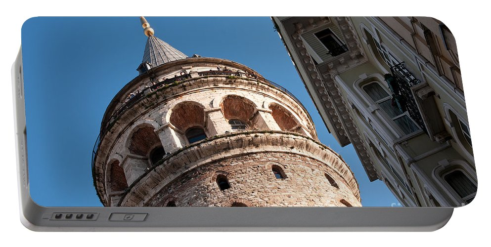 Istanbul Portable Battery Charger featuring the photograph Galata Tower 04 by Rick Piper Photography
