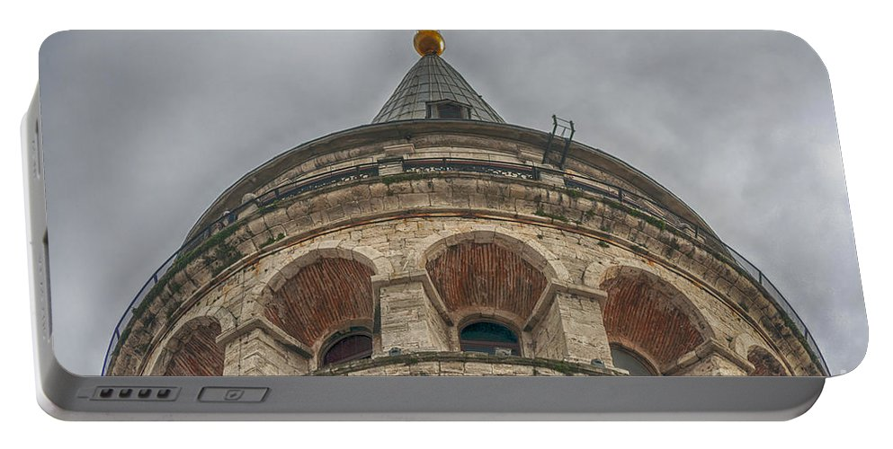 Istanbul Portable Battery Charger featuring the photograph Galata Tower Istanbul by Antony McAulay