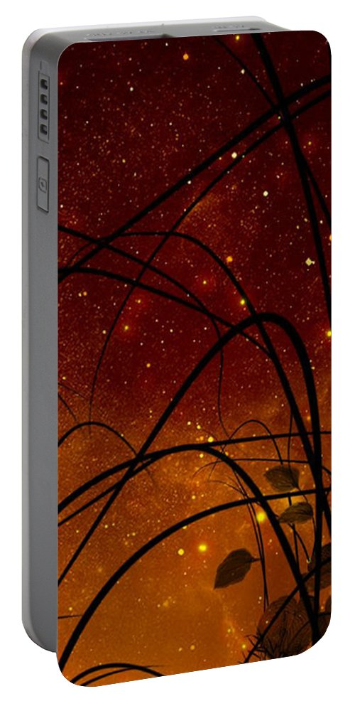 Galaxy Portable Battery Charger featuring the painting Galaxy by Persephone Artworks