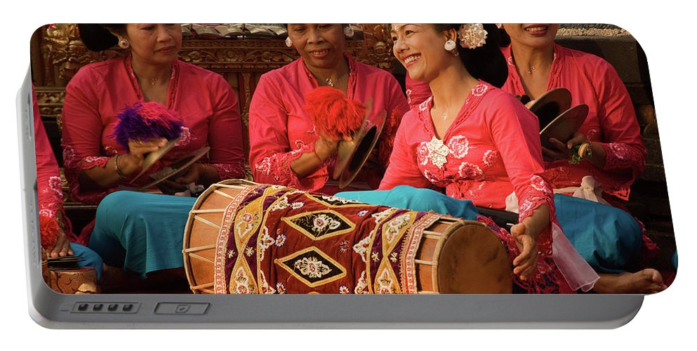 Indonesia Portable Battery Charger featuring the photograph Gamelan 02 by Rick Piper Photography