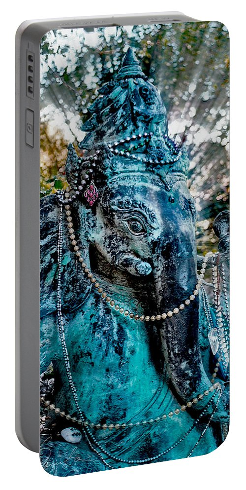 Hindu God Portable Battery Charger featuring the photograph Ganesh by Danuta Bennett