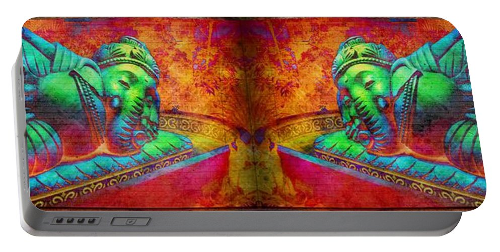 Ganesh Portable Battery Charger featuring the photograph Ganesh by Lilliana Mendez