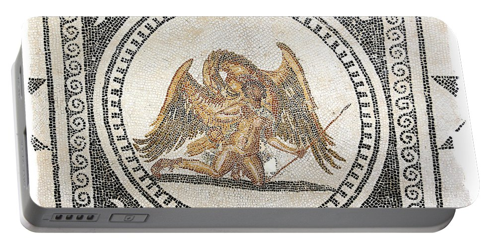 Mosaic Portable Battery Charger featuring the photograph Ganymede Carried Off By Zeus by Paul Fell