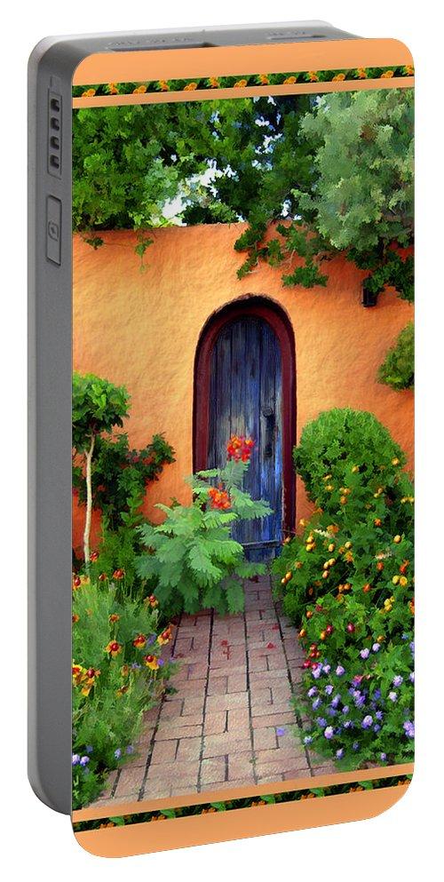 Garden Portable Battery Charger featuring the photograph Garden Delights Mesilla by Kurt Van Wagner