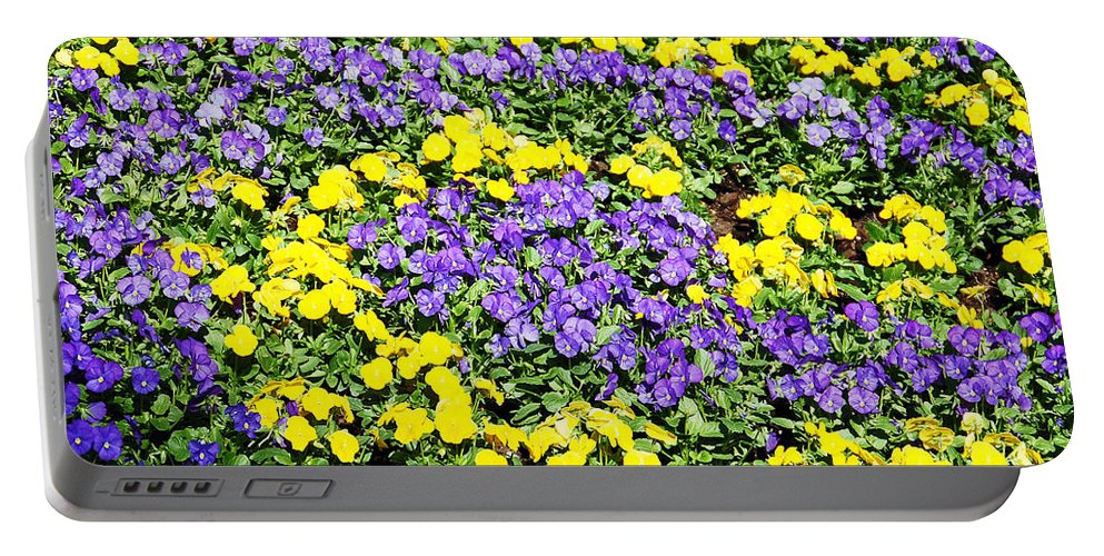 Flower Portable Battery Charger featuring the photograph Garden Design by Aimee L Maher ALM GALLERY