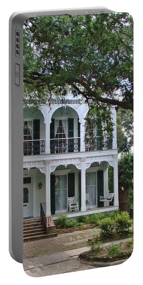 Garden District Portable Battery Charger featuring the photograph Garden District Gem by Margaret Bobb