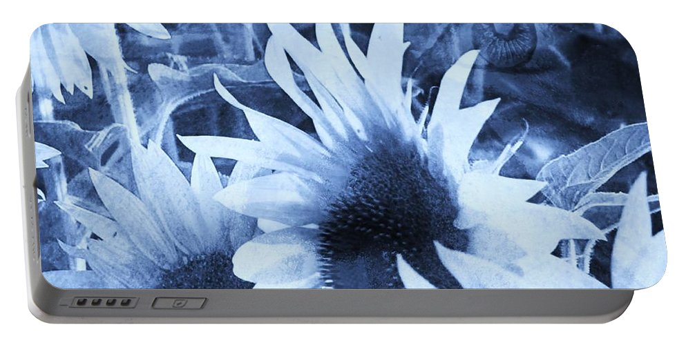 Fractal Art Portable Battery Charger featuring the digital art Garden Guardian 2 by Elizabeth McTaggart