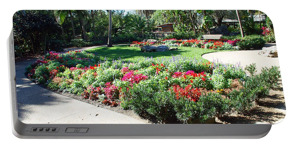 Garden Portable Battery Charger featuring the photograph Garden Park by Aimee L Maher ALM GALLERY
