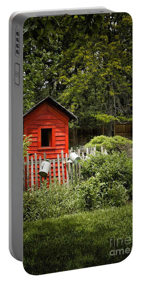 Shed Portable Battery Charger featuring the photograph Garden Still Life by Margie Hurwich