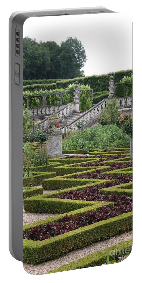 Cabbage Portable Battery Charger featuring the photograph Garden Symmetry Chateau Villandry by Christiane Schulze Art And Photography
