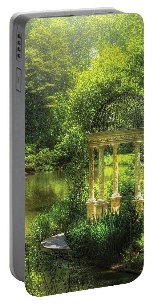 Savad Portable Battery Charger featuring the photograph Garden - The Temple Of Love by Mike Savad