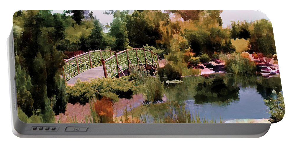 Garden Portable Battery Charger featuring the photograph Japanese Gardens - Garden View Series 05 by Carlos Diaz