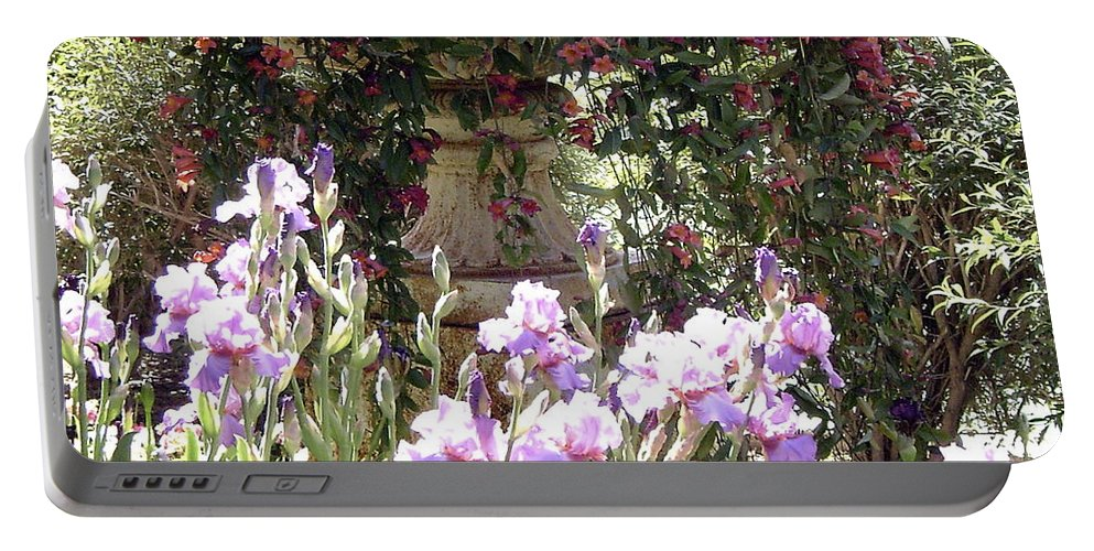 Flowers In A Pot Portable Battery Charger featuring the photograph Gardens At Caesars by Gerry High