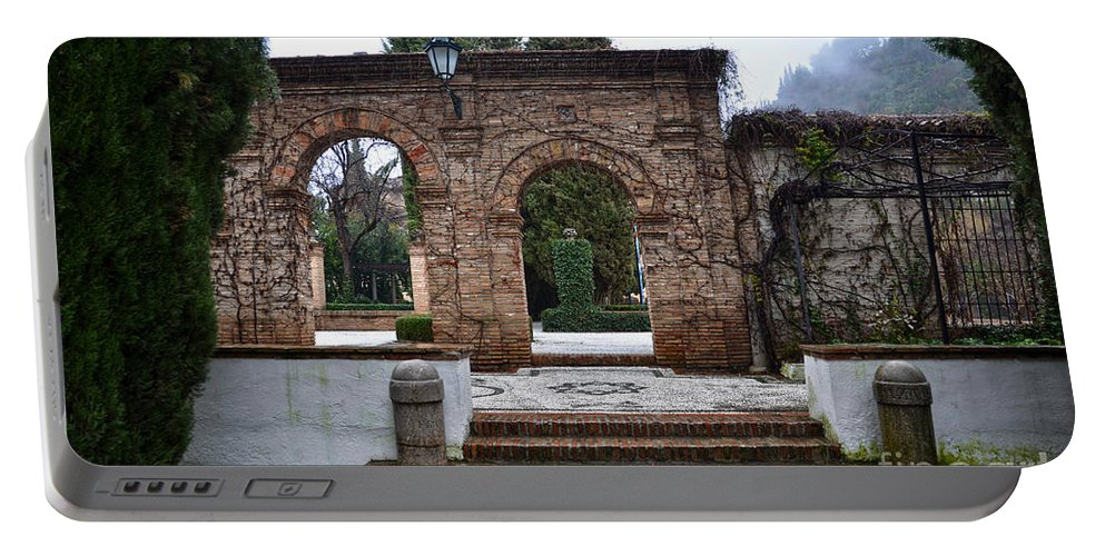 Palace Portable Battery Charger featuring the photograph Gardens At The Cordova's Palace by RicardMN Photography