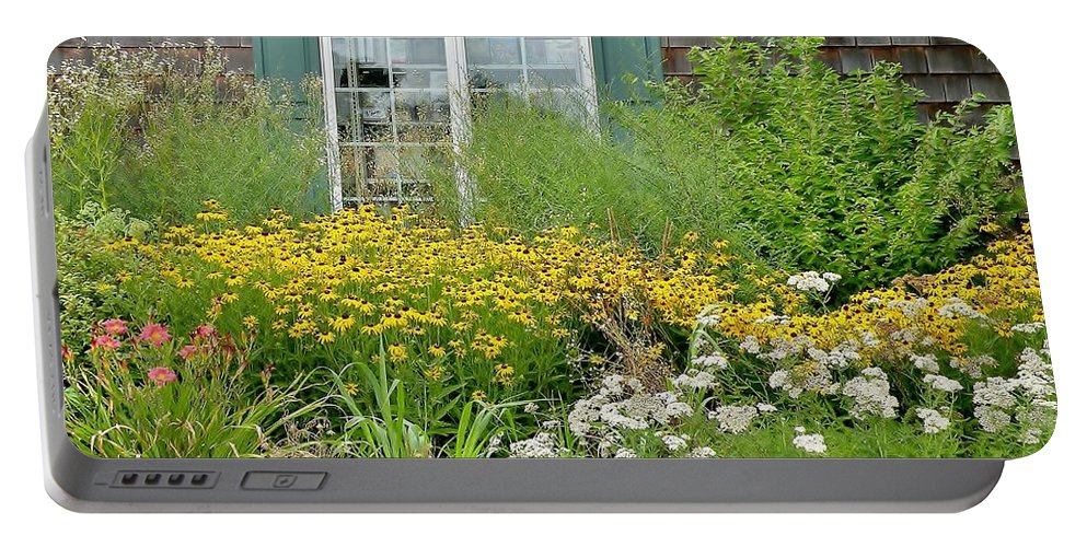 Floral Portable Battery Charger featuring the photograph Gardens At The Good Earth Market by Kim Bemis