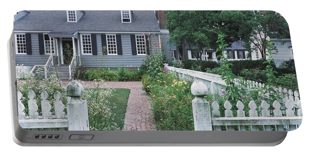 Photography Portable Battery Charger featuring the photograph Gardens Williamsburg Va by Panoramic Images
