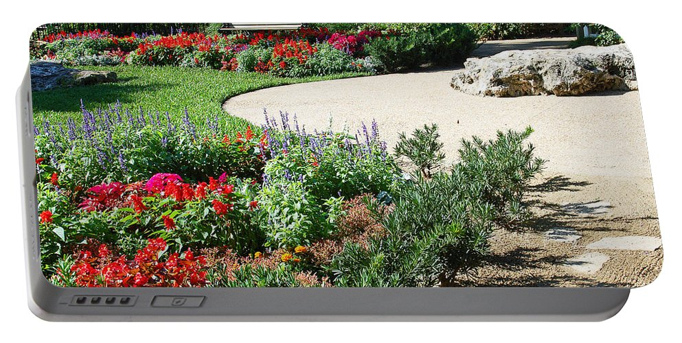 Garden Portable Battery Charger featuring the photograph Gardenscape by Aimee L Maher ALM GALLERY