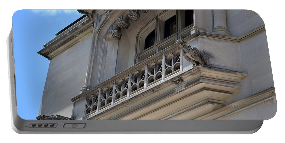 Biltmore Portable Battery Charger featuring the photograph Gargoyles Of Biltmore by April Patterson