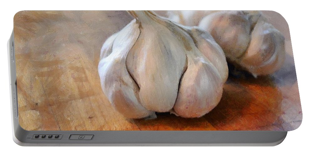 Food Portable Battery Charger featuring the photograph Garlic Cloves by Michelle Calkins