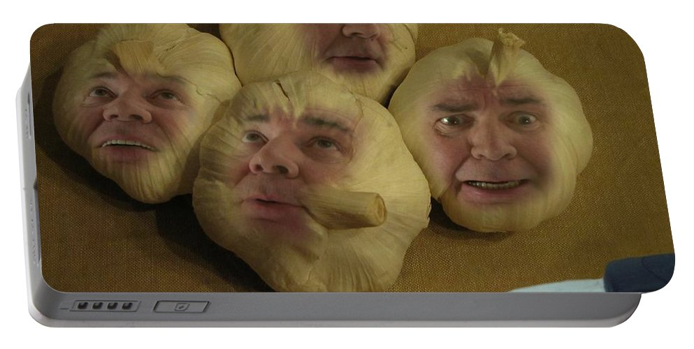 Vegetables Portable Battery Charger featuring the photograph Garlic Heads by David Dehner