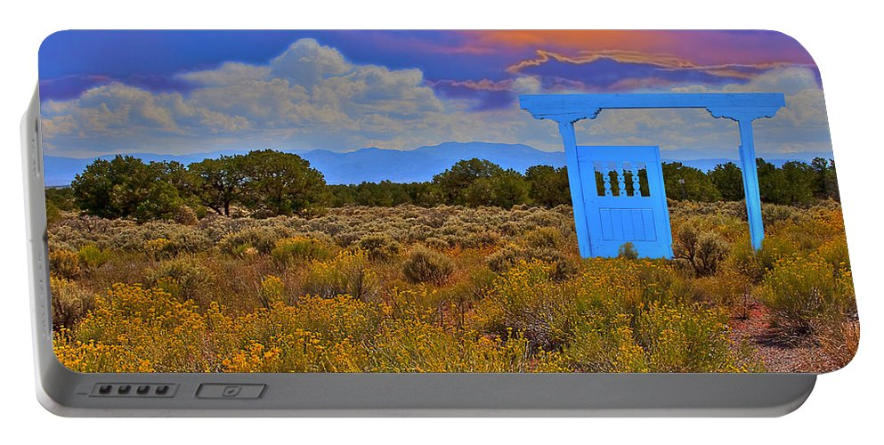 New Mexico Portable Battery Charger featuring the photograph Gateway To The West by Greg Wells
