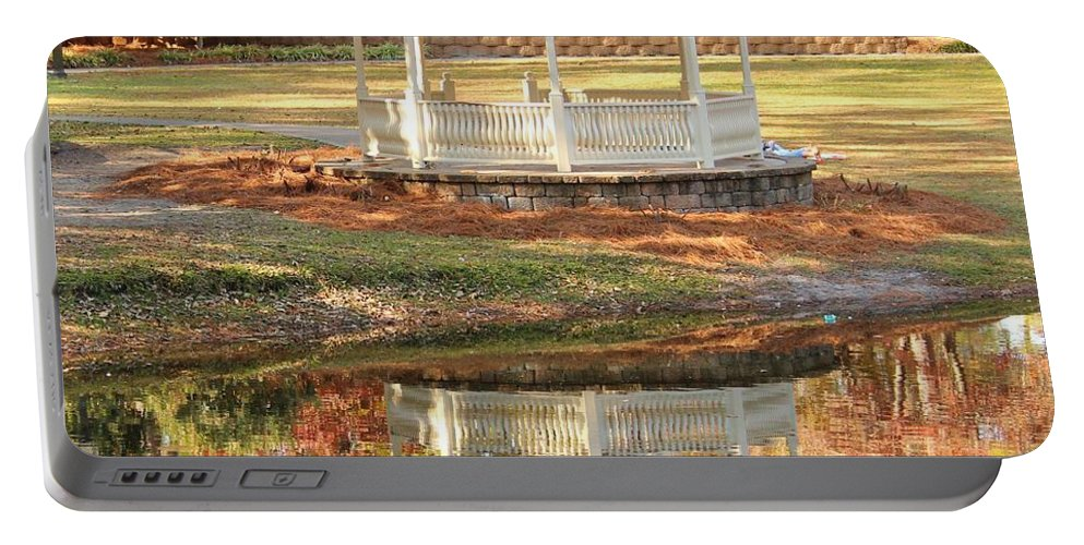 Gazebo Portable Battery Charger featuring the photograph Gazebo In The Park by Cynthia Guinn