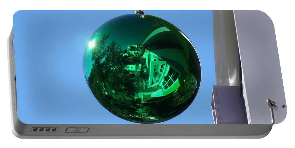 David S Reynolds Portable Battery Charger featuring the photograph Gazing Ball by David S Reynolds