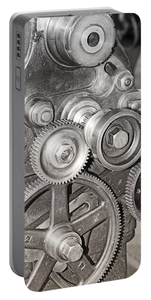 Gears Portable Battery Charger featuring the photograph Gears by Debby Richards