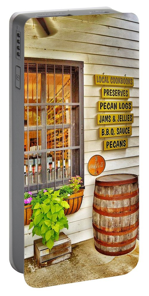 General Store Portable Battery Charger featuring the photograph General Store by Jean Goodwin Brooks
