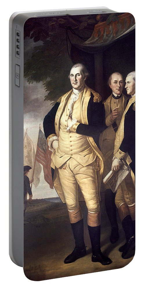 1781 Portable Battery Charger featuring the photograph Generals At Yorktown, 1781 by Granger