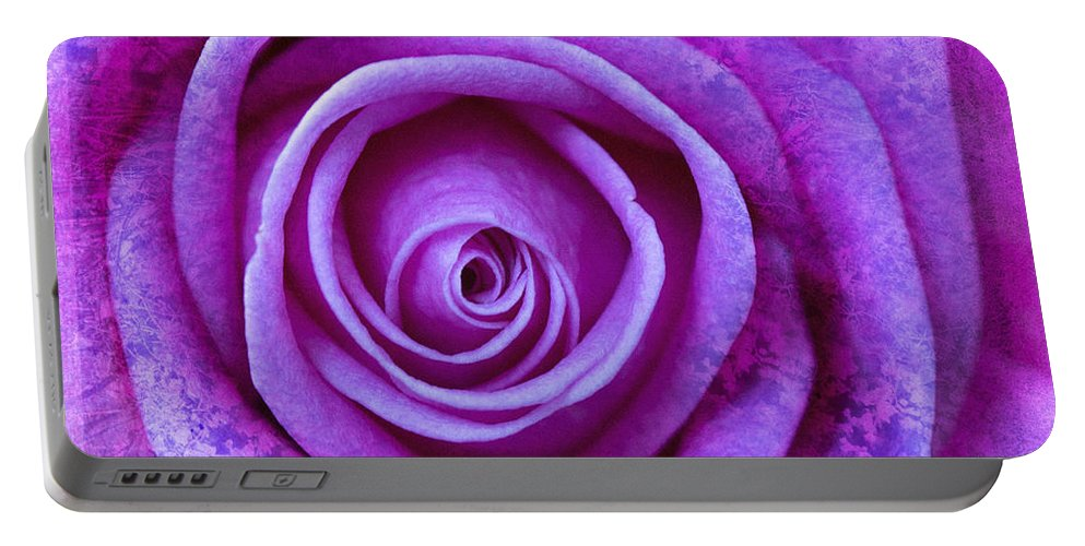 Flower Portable Battery Charger featuring the photograph Gentle Folds by David Hare