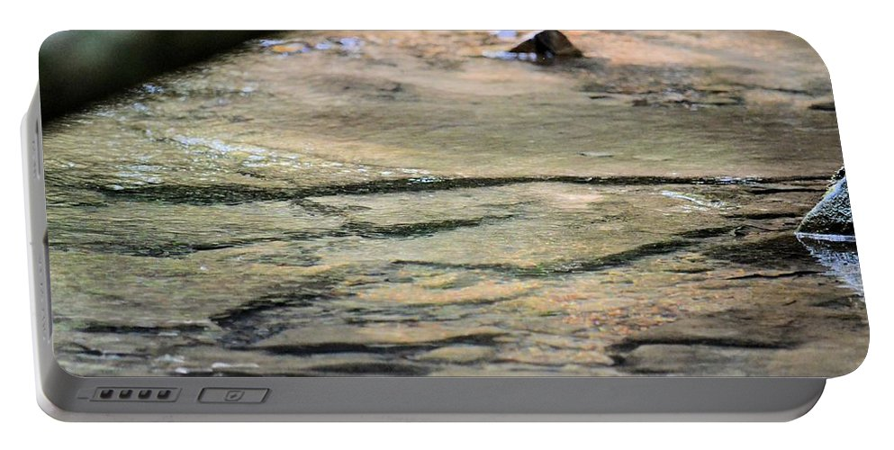 Gently Gliding Water Abstract Portable Battery Charger featuring the photograph Gently Gliding Water Abstract by Maria Urso