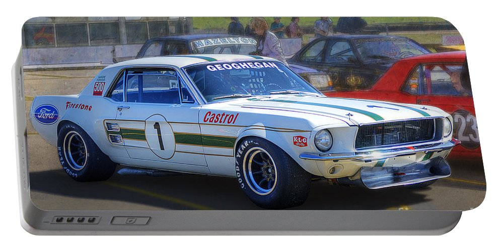 Ford Portable Battery Charger featuring the photograph Geoghegan's Mustang by Stuart Row