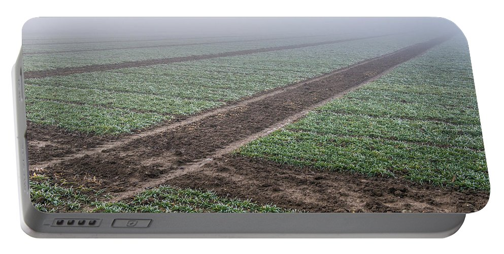 Austria Portable Battery Charger featuring the photograph Geometry In Agriculture by Hannes Cmarits