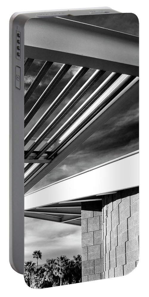 Featured Portable Battery Charger featuring the photograph Geometry Lesson Palm Springs Tram Station by William Dey