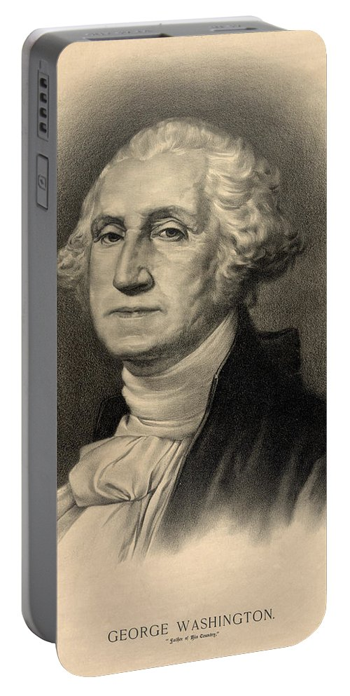 George Portable Battery Charger featuring the photograph George Washington by Bill Cannon