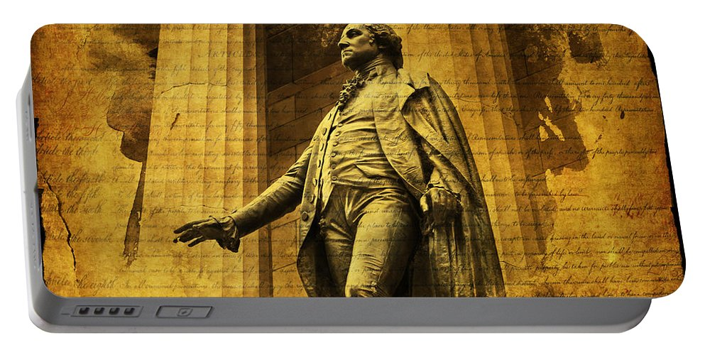 Evie Portable Battery Charger featuring the photograph George Washington by Evie Carrier