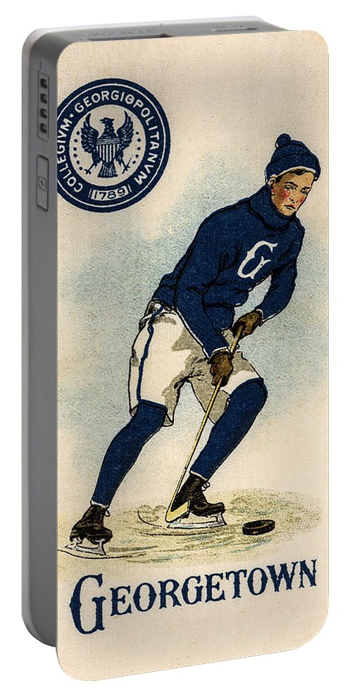 Georgetown Portable Battery Charger featuring the photograph Georgetown Hockey by Bill Cannon