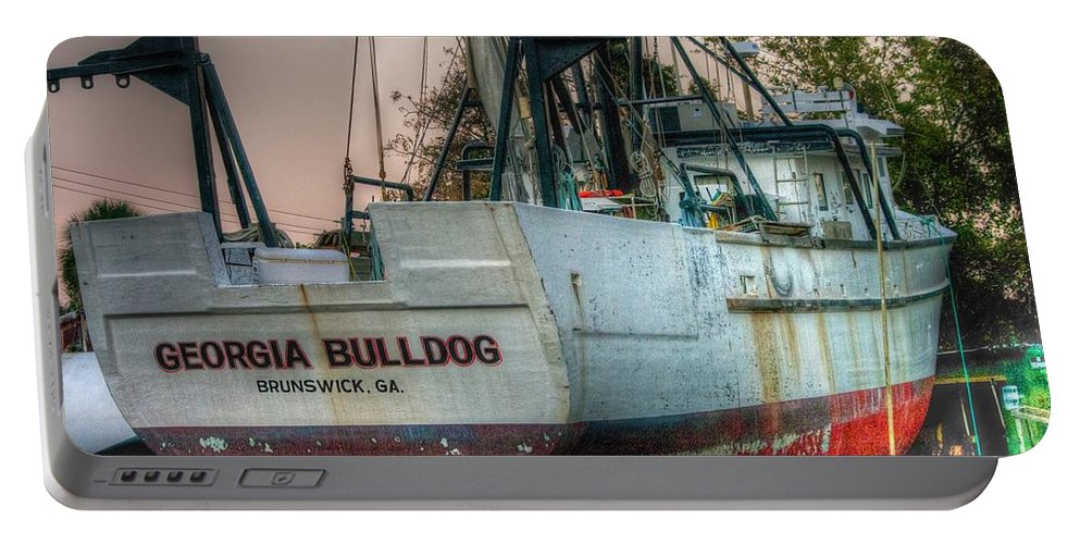 Boats Art Portable Battery Charger featuring the photograph Georgia Bulldog by Dennis Baswell