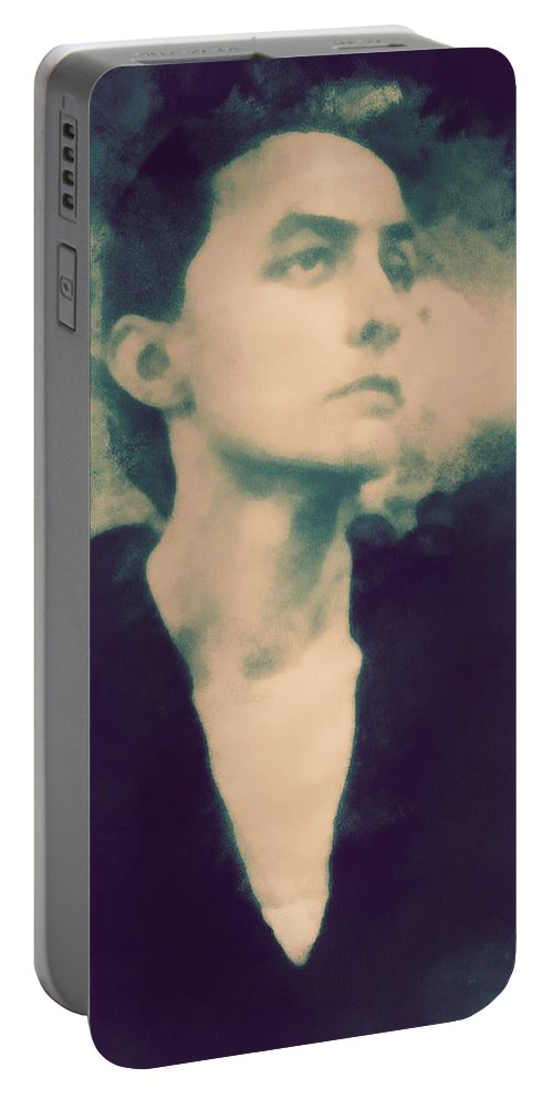 Georgia Portable Battery Charger featuring the photograph Georgia O'keefe by Paulette B Wright