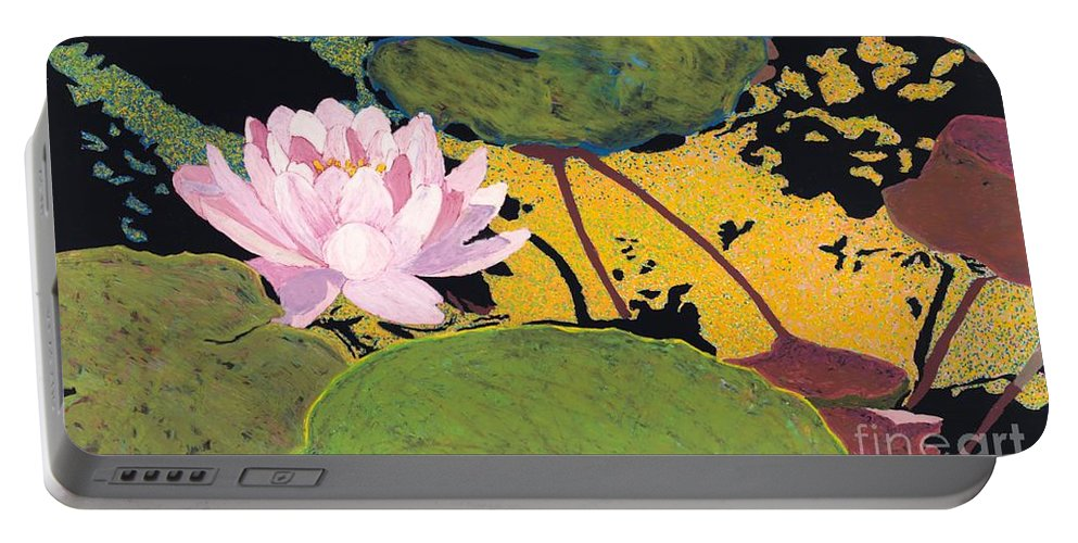 Landscape Portable Battery Charger featuring the painting Georgia Summer by Allan P Friedlander