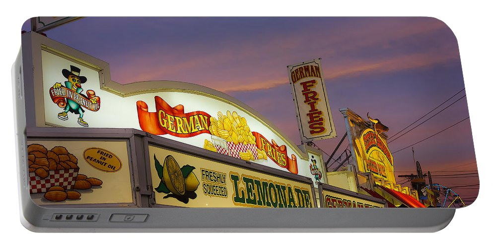 Fair Portable Battery Charger featuring the photograph German Fries Topsfield Fair by David Stone