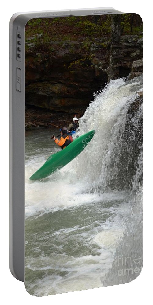 Kayaking Portable Battery Charger featuring the photograph Geronimo by Deanna Cagle