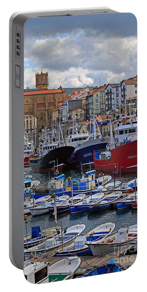 Getaria Portable Battery Charger featuring the photograph Getaria In Basque Country Spain by Louise Heusinkveld