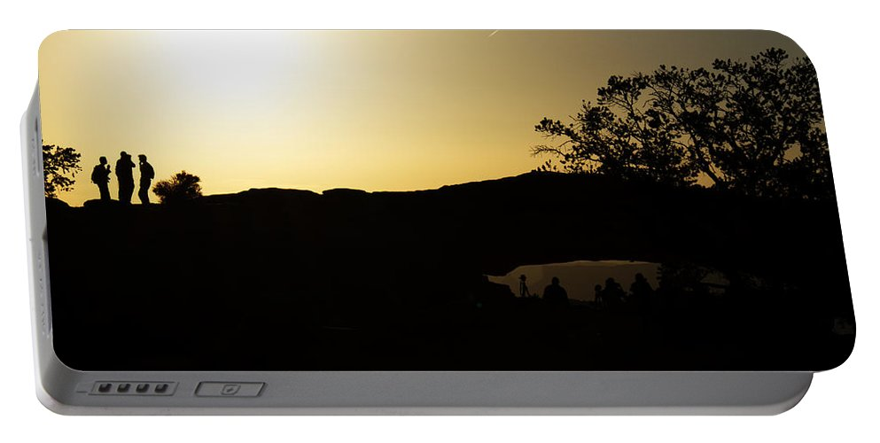 Sunrise Portable Battery Charger featuring the photograph Getting The Shot by Debby Richards