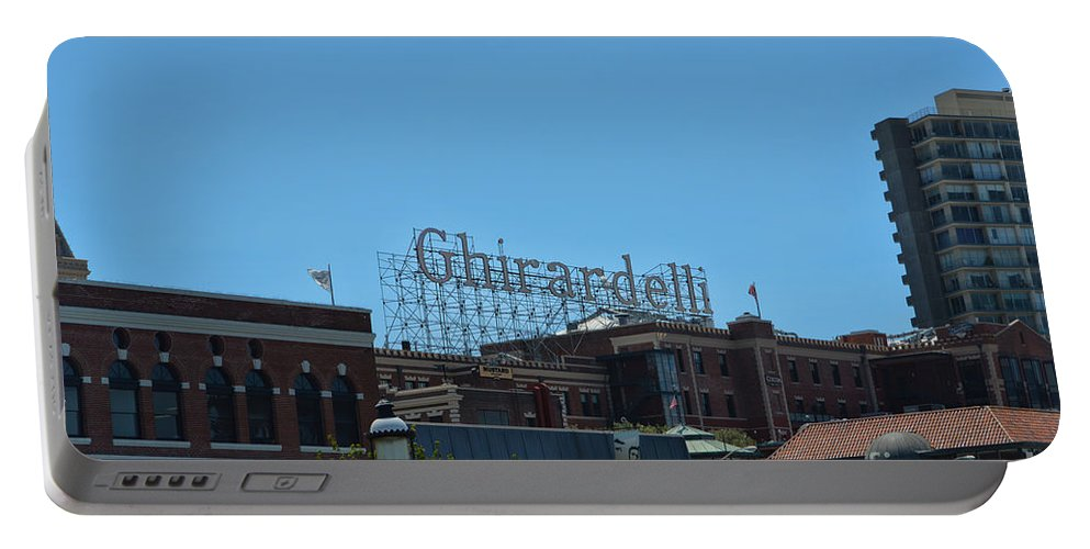 Ghirardelli Square Portable Battery Charger featuring the photograph Ghirardelli Square by Tommy Anderson
